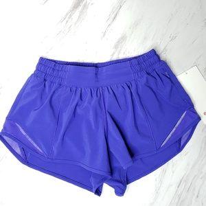 """Lululemon Athletica Hotty Hot Short II 2.5"""" Blue"""